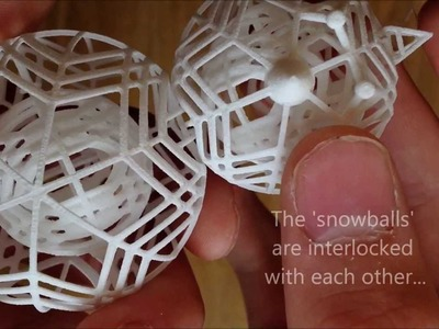 3D Printed Snowman - Spinning Christmas Ornament