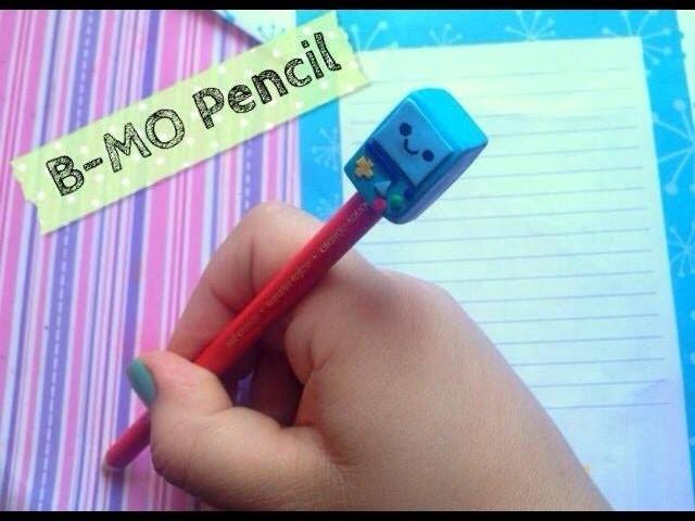 ❤B-MO pencil adventure time. polymer clay. B-MO para lápiz de arcilla polimerica❤
