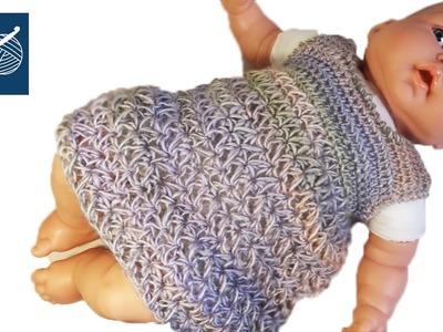 Crochet Baby Dress Part 10 Left Hand Tutorial