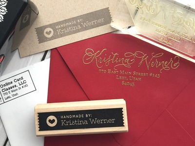 "Custom Return Address Stamps & ""Handmade By"" Stamps"