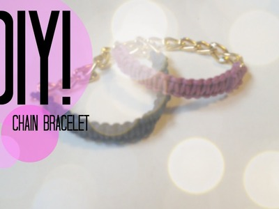DIY| How to make a chain bracelet