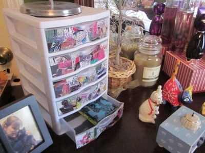 DIY - Personalize Your Plastic Drawers!  Get Organized for Spring!