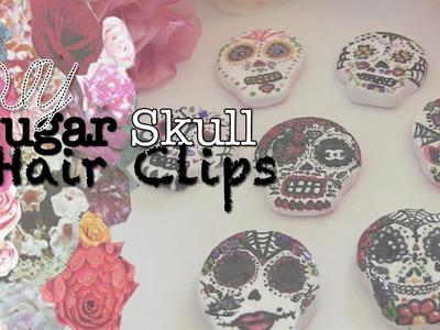 ☠ DIY Sugar Skull Hair Clips ☠