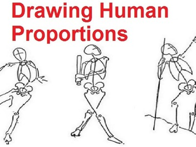 Figure Drawing Lessons 2.8 - Drawing Human Proportions Using Stick Figures