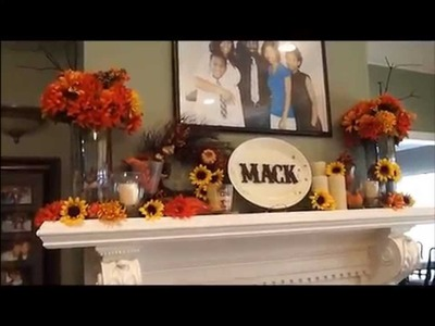 How to Decorate Fireplace Mantle for $20 (Fall Decor)