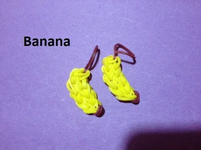 How to Make a Banana Charm on the Rainbow Loom - Original Design