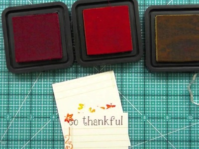 How to make 'what I'm thankful for' cards for Thanksgiving { Lawn Fawn }