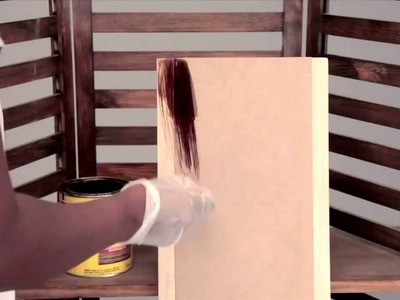 How to Stain a 3-Panel Wood Display