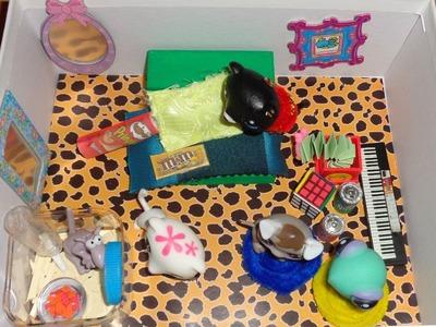 Make a Shoebox Dollhouse Bedroom - DIY LPS Crafts, Doll Stuff & Dollhouse Accessories