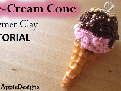 Miniature Ice-Cream Cone Charms - Polymer Clay TUTORIAL