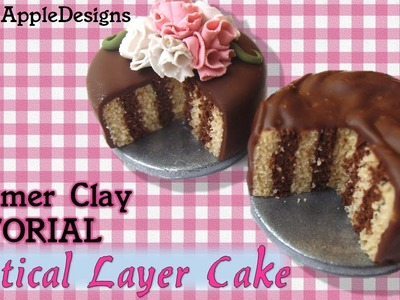 Miniature Polymer Clay Vertical Layer Cake Tutorial