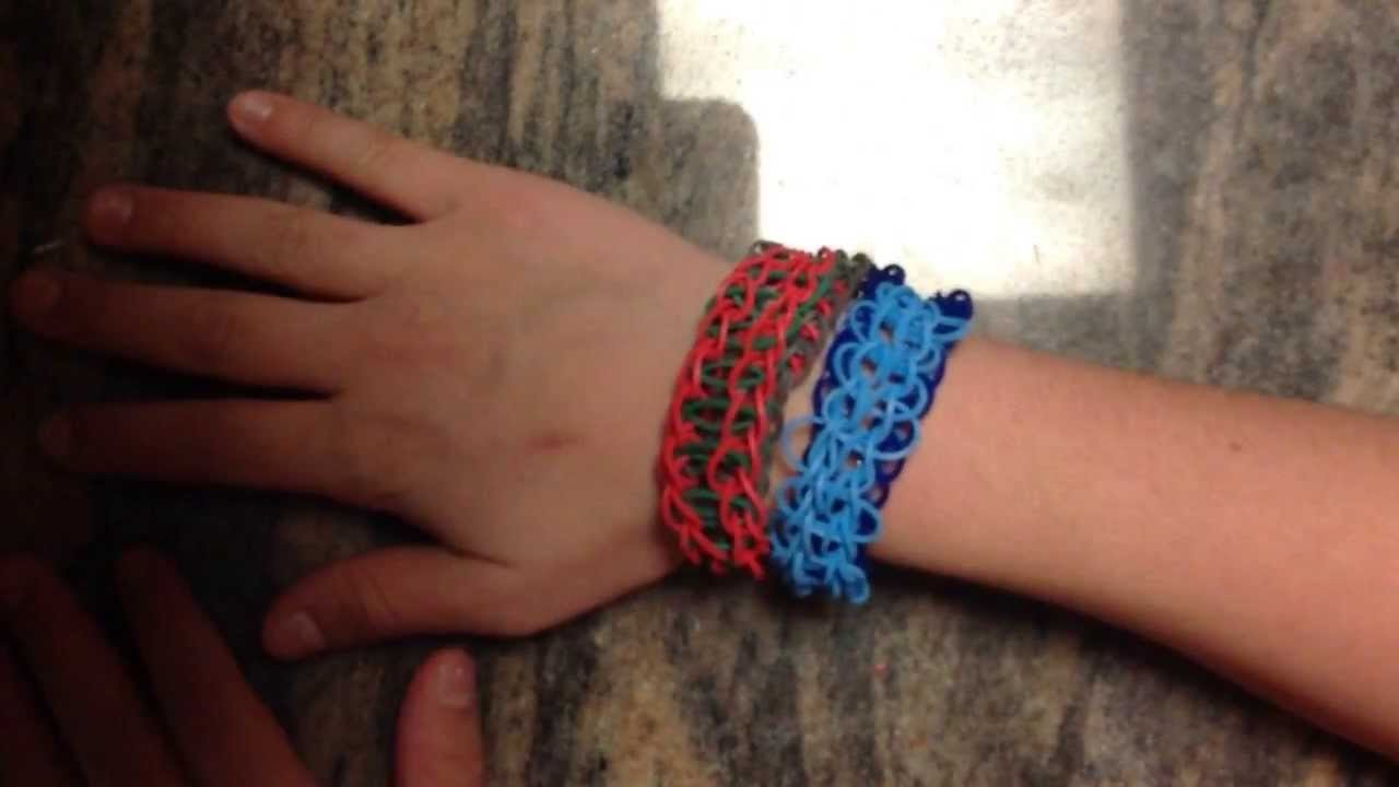 *NEW!* How to Make a Rainbow Loom Umbra Bracelet! (Requires 2 Looms)