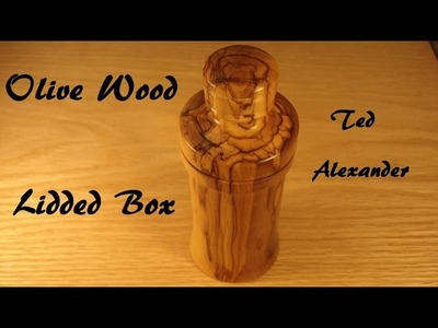 Olive Wood Lidded Box