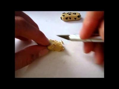 Polymer Clay Granola Bar Tutorial