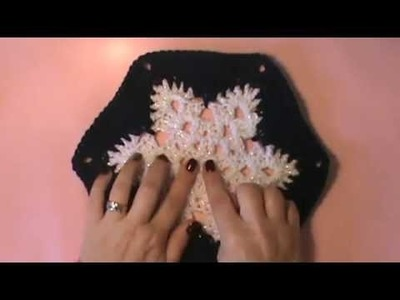 """Snowflake Afghan""- Video 1 of 2 (snowflake motif)"