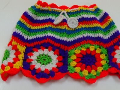 CROCHET  CHEVRON STITCH  SKIRT-1