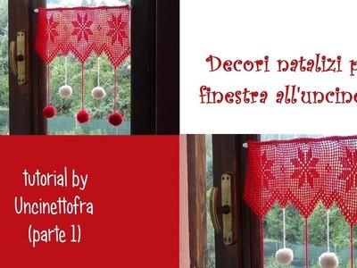 Decori natalizi per finestra all'uncinetto tutorial (parte 1)