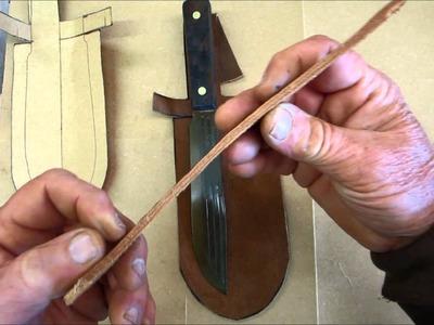DIY Custom Sheath for Old Hickory Butcher Bushcraft Knife
