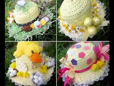 Easter bonnet craft decorating ideas