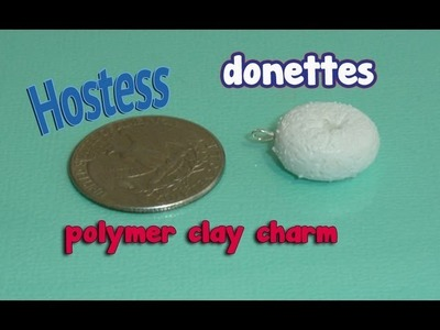 Hostess Donette Polymer Clay Charm