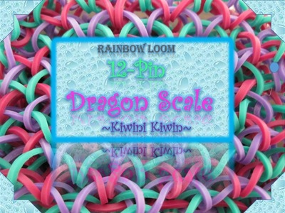 How To Make A 12-Pin Dragon Scale bracelet