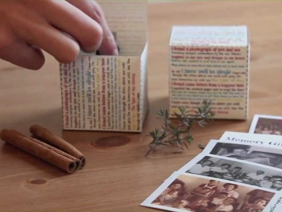 How to make a beautiful memory gift box - from The Album People