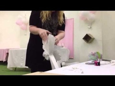 How to make a giant party tissue paper pom pom