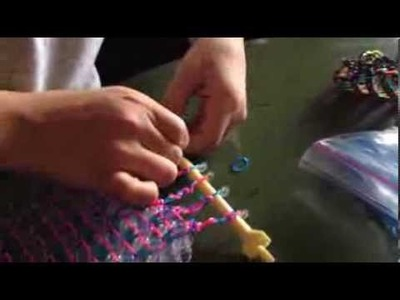 How to make A HexaLadder Cuff Rainbow Loom Bracelet