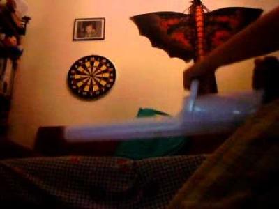 My paper minigun in action!!