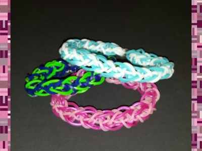"New ""Helix Clasp"" Rainbow Loom Bracelet. How to tutorial"