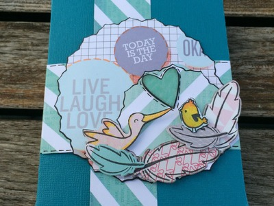 Scrapbook Mini-Album---Live Laugh Love---Tutorial[deutsch]