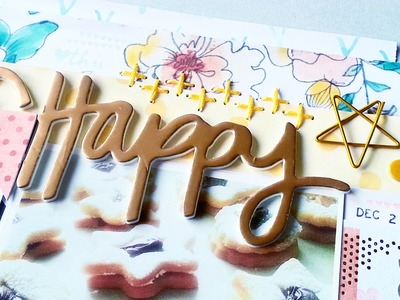 Scrapbooking Process- December Hip Kit Club- Amy Tangerine Stitched Collection