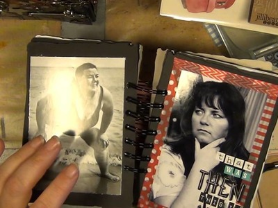A CINCH COIL BOUND MINI ALBUM WITH TIM HOLTZ' VINTAGE VALISE DIE - PART 1