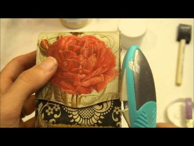 Altered Box Using Napkins As Paper