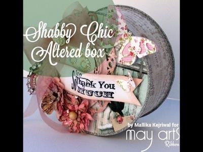 Altered Shabby Chic Box tutorial - Spellbinders 2014 Product Partner Holiday Blog Hop
