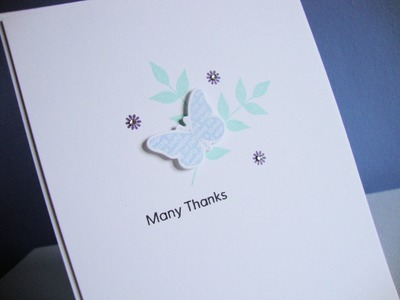 Card Making with The Card Grotto - Many Thanks