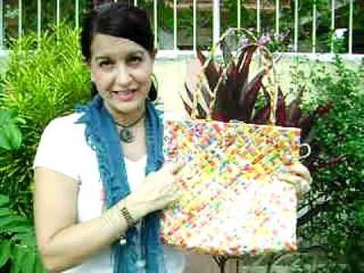 Christmas Gift Idea - Recycled Juice Box Bag