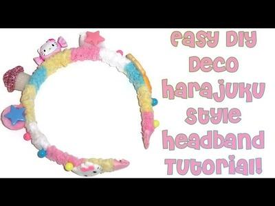 Easy DIY Deco Harajuku Style Headband Tutorial!