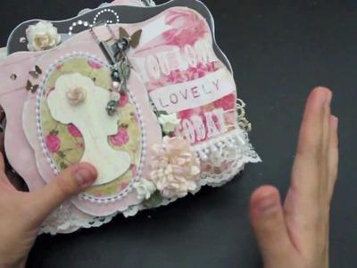 Glitz Design Pretty in Pink Cameo Mini album. THEJULEBOX.COM