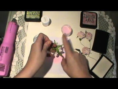 How to add color and sparkle to your paper flowers with embossing powder tutorial