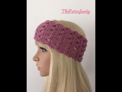 How to Crochet Earwarmers. Headband Pattern #23│by ThePatterfamily