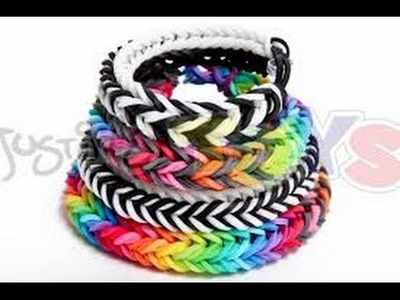 How to make a dragon fishtail rubber band bracelet