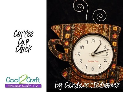 How to Make a Fabric Covered Wall Clock by Candace Jedrowicz