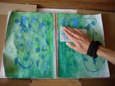 How to make an Art Journal background