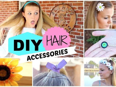 Quick and Easy DIY Hair Accessories! ✂︎