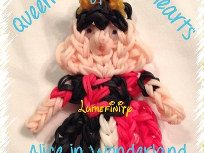 Rainbow Loom bands Queen of Hearts - Alice in Wonderland figure by Lumefinity - How to