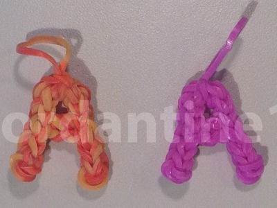 Skinny Letter A Alphabet Charm - Rainbow Loom, Crazy Loom, Wonder Loom, Bandaloom