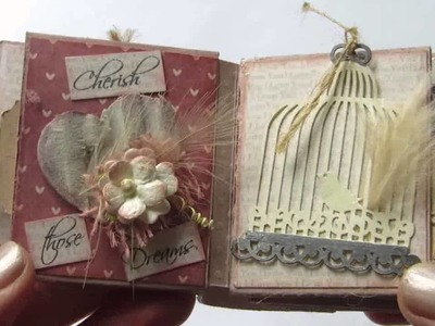 Teensy Tiny Mini Book on a Key chain
