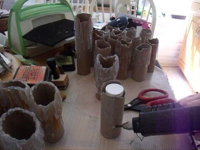 Toilet Paper Roll Halloween Candles Part 1