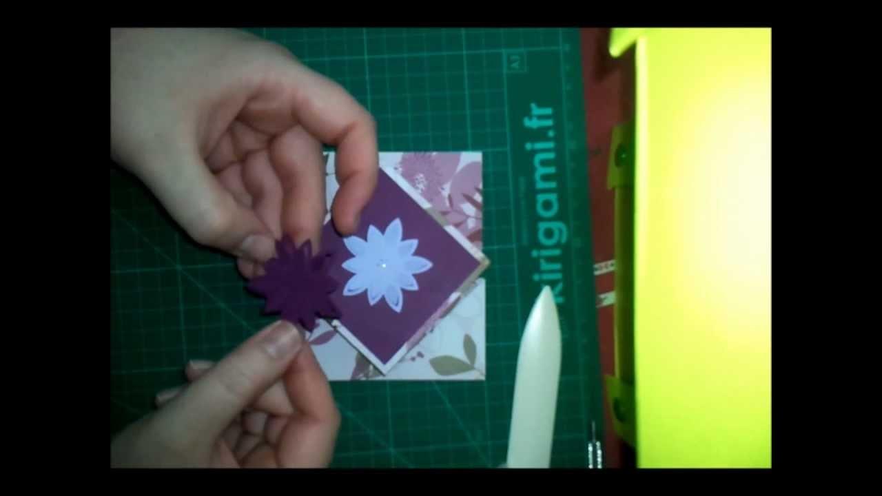 Tuto carte pliage diamant (how to make a diamond fold card)